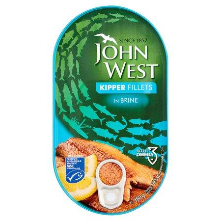 john west kipper fillet brine 160g