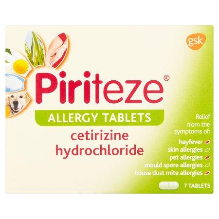 piriteze allergy tablets 7s