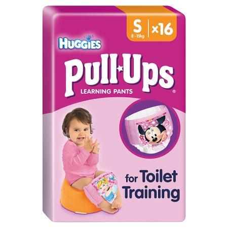 huggies pull ups small girl 16s