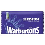warburtons white medium bread 800g
