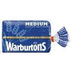 warburtons white medium bread 400g