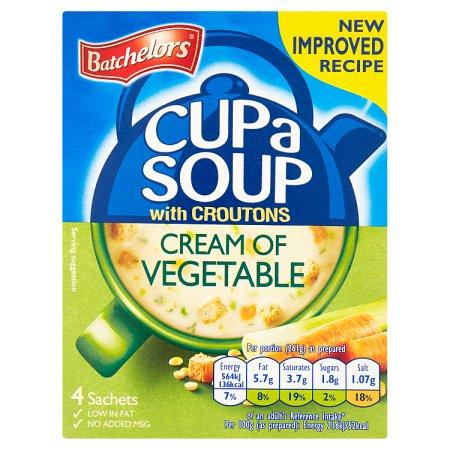 batchleors cas cream of vegetable 122g