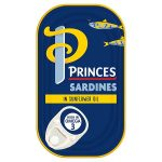 princes sardines in sunflower oil 120g