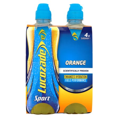 lucozade sport orange [4 pack] 4x500m