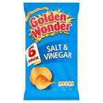 golden wonder salt & vinegar [6 pack] 25g