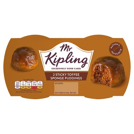 mr kipling sticky toffee pudding [2 pack] 2pk