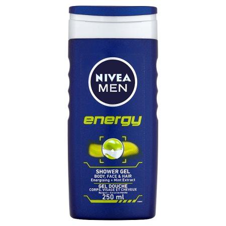 nivea shower gel mens energy 250ml