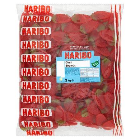 haribo giant strawberries 3kg