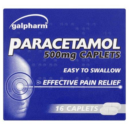 galpharm paracetamol caplets 16s