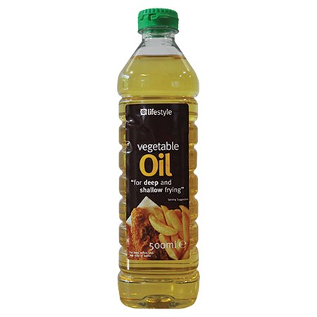 lifestyle vegetable oil 500ml