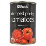 lifestyle chopped tomatoes 400g