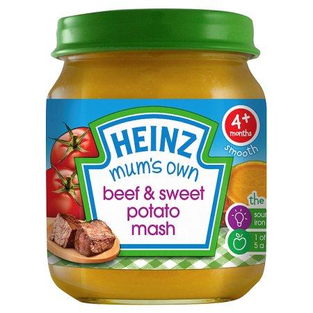 heinz mums own sweet potato & beef 128g