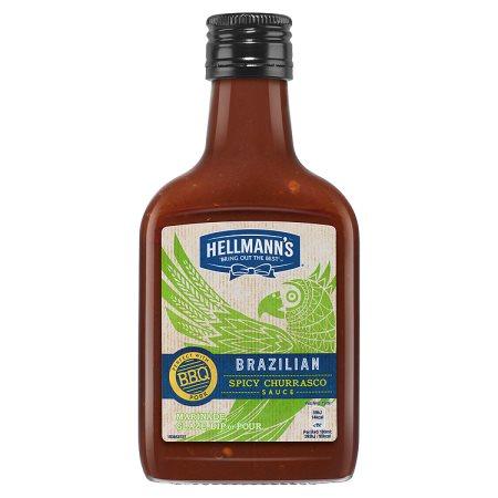 hellmanns brazilian bbq sauce bottle 200ml