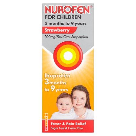 nurofen children strawberry 100ml
