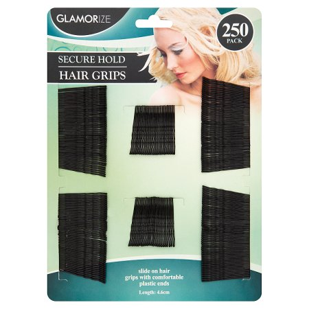 glamorize 250 secure hold hair grips 250s