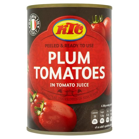 ktc plum tomatoes 400g