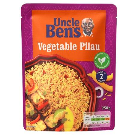 uncle bens veg pilau express rice 250g