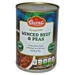 grants minced beef & peas 392g