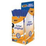 bic pens medium blue 50s