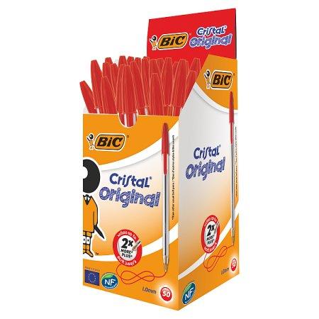 bic pens medium red 50s