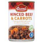grants minced beef & carrots 392g
