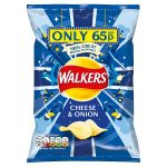 walkers cheese & onion 65p 32.5g