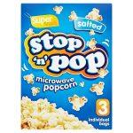 stop n pop microwave popcorn salty 3 pack 3x85g