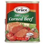 grace halal corned beef 100% 340g