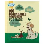 good boy poo antibacterial biodegradable bags 100s