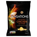 walkers sensations roast chicken and thyme 150g