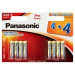 panasonic alkaline aaa [4+4 free] battery 8s