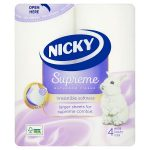 nicky supreme toilet tissue 4 roll 4roll