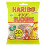 haribo sour suckers 50p 70g