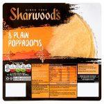 sharwoods rte plain poppodoms [8 pack] 72g