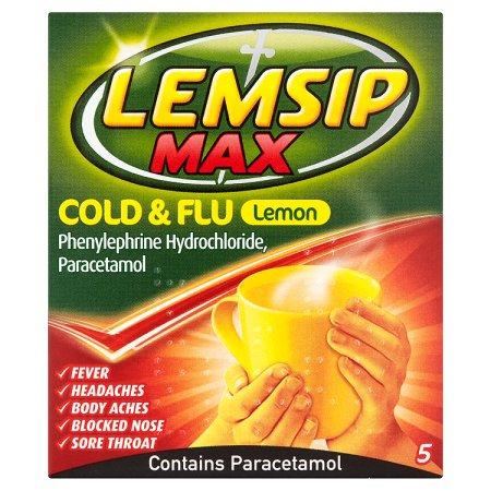 lemsip max cold flu lemon 5s 5s