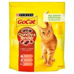 go cat crunchy beef chicken & veg 375g