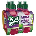 fruit shoot apple blackcurrant sugar free [4 pack] 4x200m