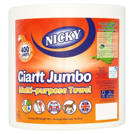 nicky giant kitchen towel 1roll