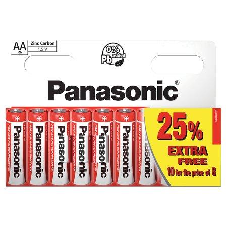 panasonic zinc aa battery 10s