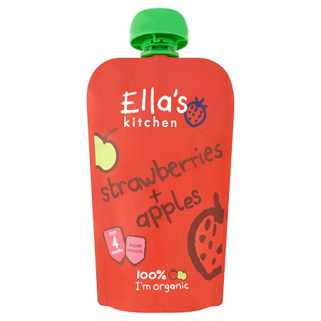 ellas strawberry & apple stage 1 120g