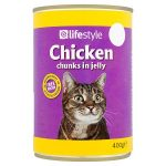 lifestyle cat food chicken chunks in jelly 55p 400g
