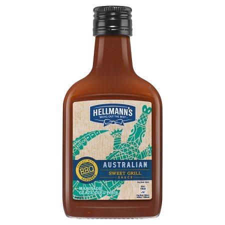 hellmanns austrailian bbq sauce bottle 200ml