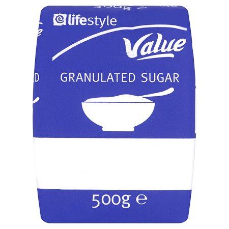 lifestyle value granulated sugar 59p 500g