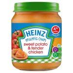 heinz mum sweet potato & tender chicken jar 128g