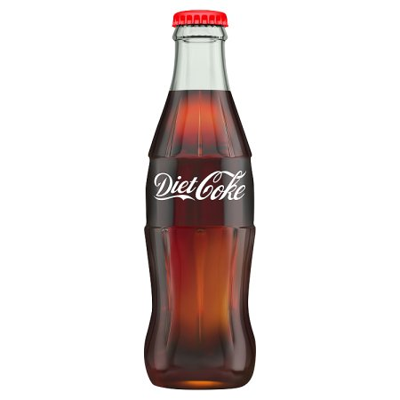 diet coke contour glass bottle 330ml