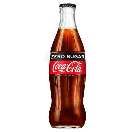 coke zero contour glass bottle 330ml