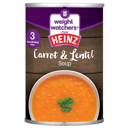 heinz weight watchers lentil & carrot soup 295g