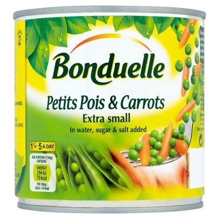 bonduelle petit pois & carrots 400g