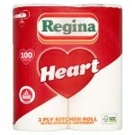 regina heart kitchen towel 2 roll