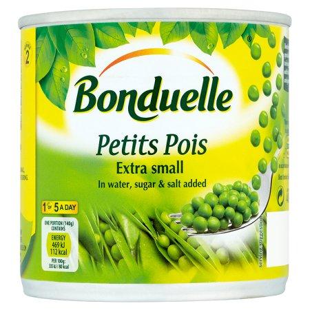 bonduelle very small petit pois 400g